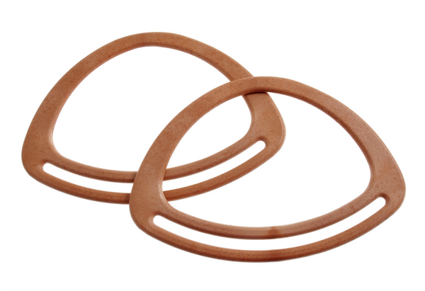 "Bag Handles 7"" Oval - Light Brown"