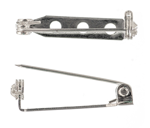 Silver Coloured Brooch Bar - 2 Pack