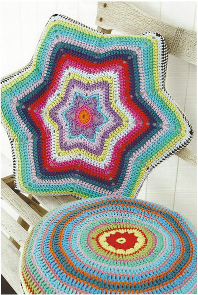 Stylecraft 9137 - Cushion Covers in Classique Cotton DK Pattern - The Crafty Knitter