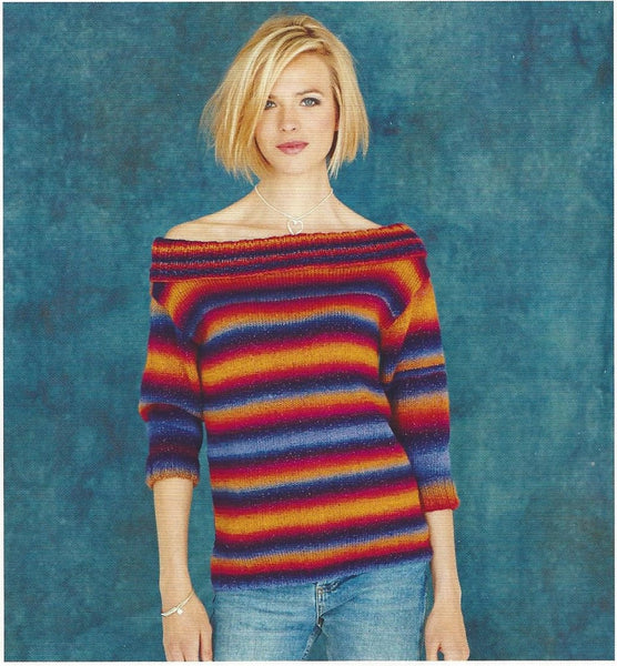 Stylecraft 9181 - Ladies Sweaters in Cabaret DK Pattern - The Crafty Knitter