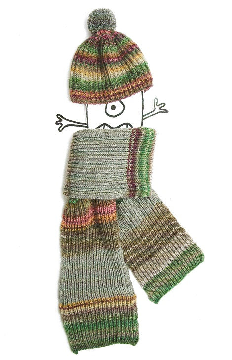 99a3a54bd76 ... Rico 614 - Childs Hat   Scarf in Rico Creative Melange DK Pattern ...