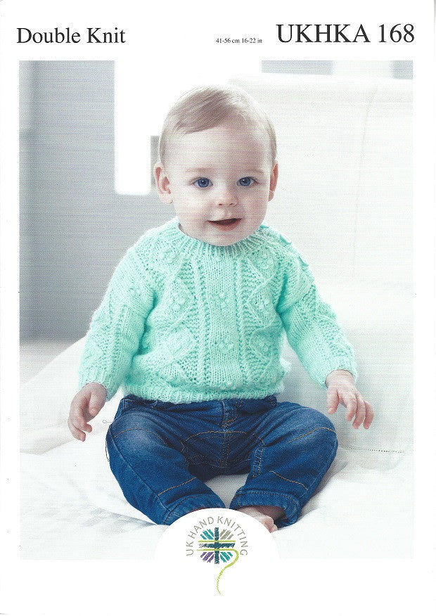 753c553a67ecad UKHKA 168 - Babies Cardigan   Sweater in DK Pattern – The Crafty Knitter