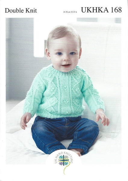 UKHKA 168 - Babies Cardigan & Sweater in DK Pattern