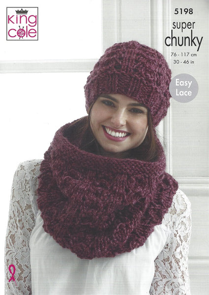 King Cole 5198 - Accessories in Super Chunky Knitting Pattern