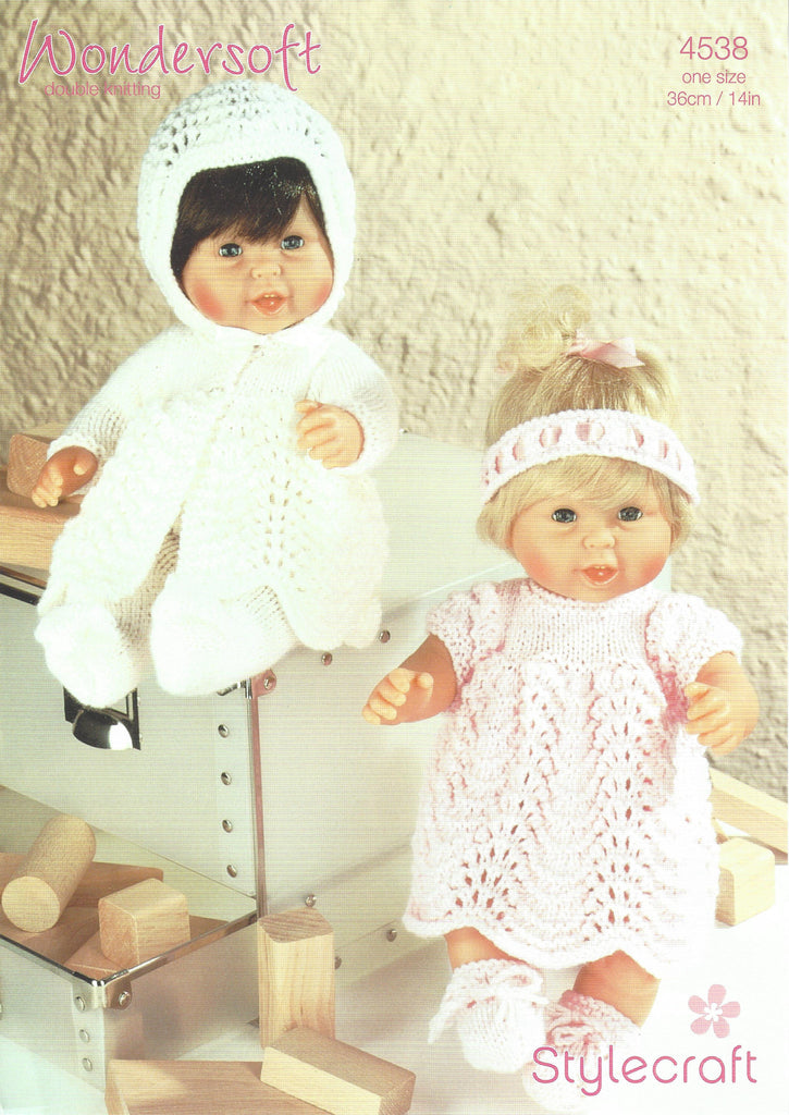 Stylecraft 4538 - Dolls Outfits in WonderSoft DK Knitting Pattern - The Crafty Knitter