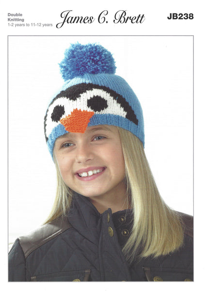 James C Brett JB238 - Childrens Hat Double Knitting Pattern - The Crafty Knitter Ltd - 1