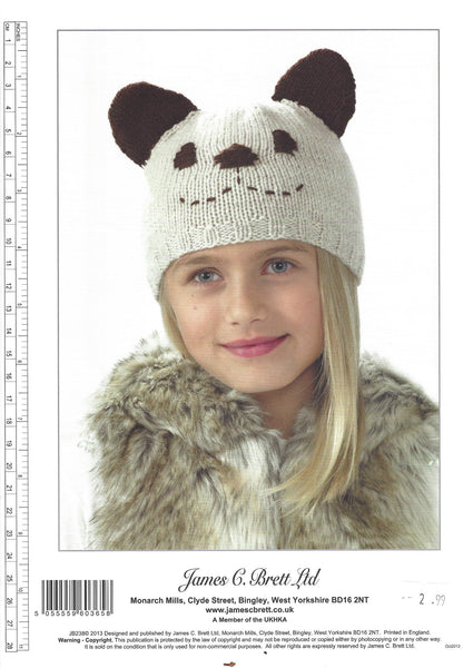 James C Brett JB238 - Childrens Hat Double Knitting Pattern - The Crafty Knitter Ltd - 2