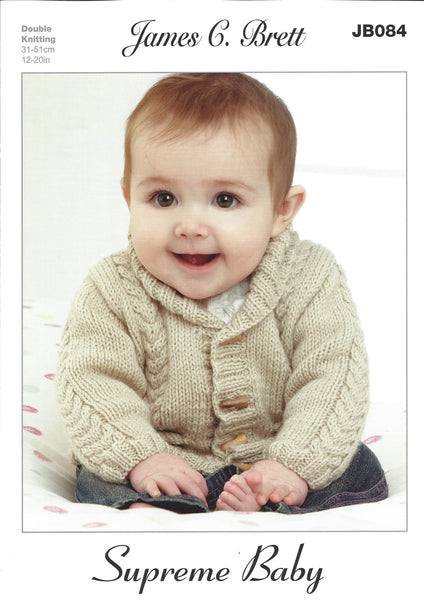 James C Brett JB084 - Baby's Cardigan, Hat, Bootees and Blanket in DK Pattern - The Crafty Knitter Ltd - 1
