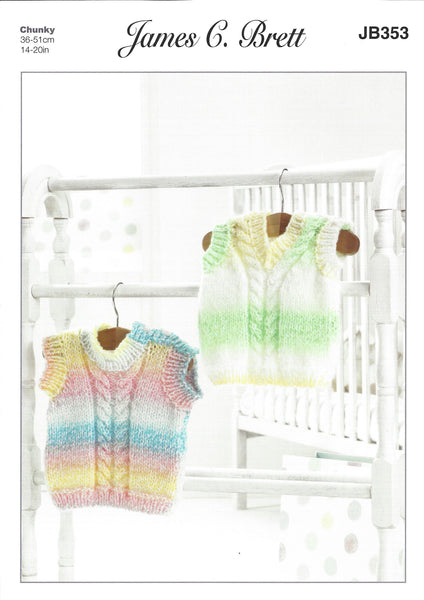 James C Brett JB353 - Baby's Pullovers in Chunky Pattern - The Crafty Knitter Ltd - 1