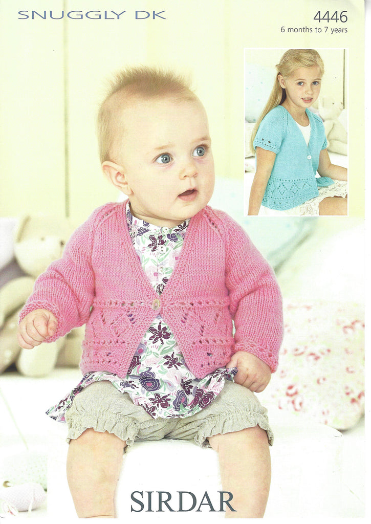 Sirdar 4446 - Baby / Childrens Cardigans in Snuggly DK Pattern - The Crafty Knitter