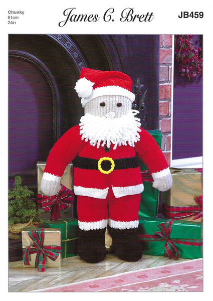 James C Brett JB459 - Father Christmas in Flutterby Chunky Pattern