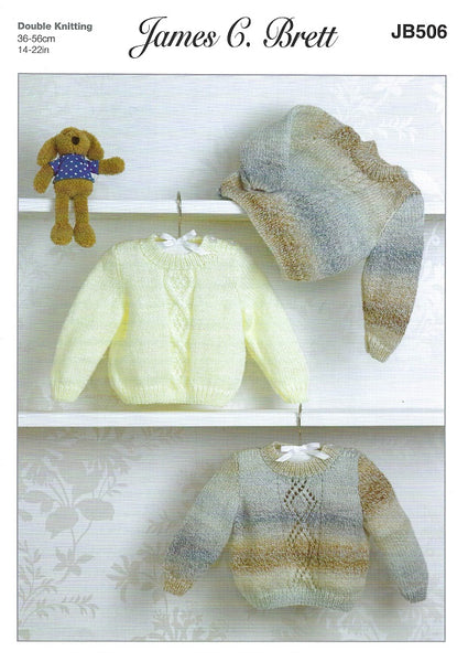 James C Brett JB506 - Babies Sweater in DK Pattern