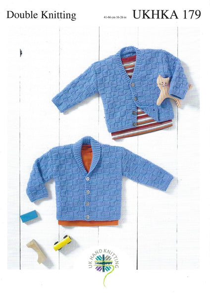 UKHKA 179 - Babies / Childrens Cardigans in DK Pattern
