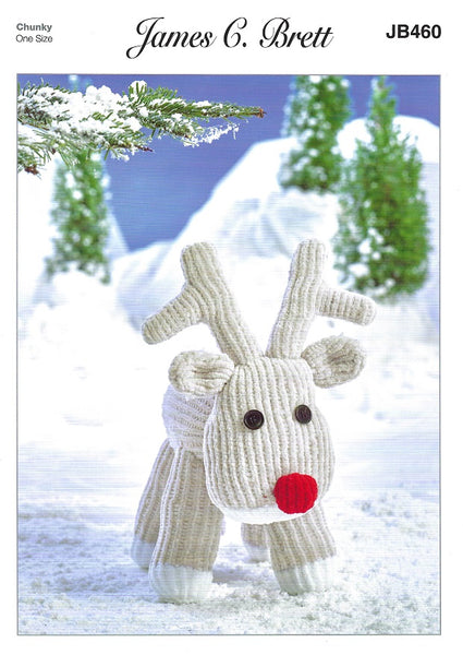 James C Brett JB460 - Rudolph the Reindeer in Flutterby Pattern