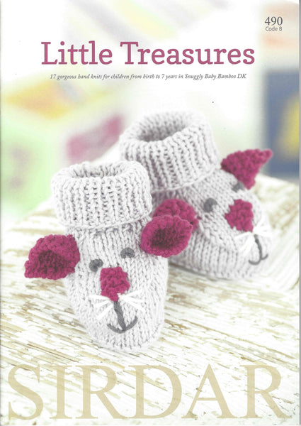 Little Treasures - Childrens Knitting Patterns Book by Sirdar - 490B - The Crafty Knitter