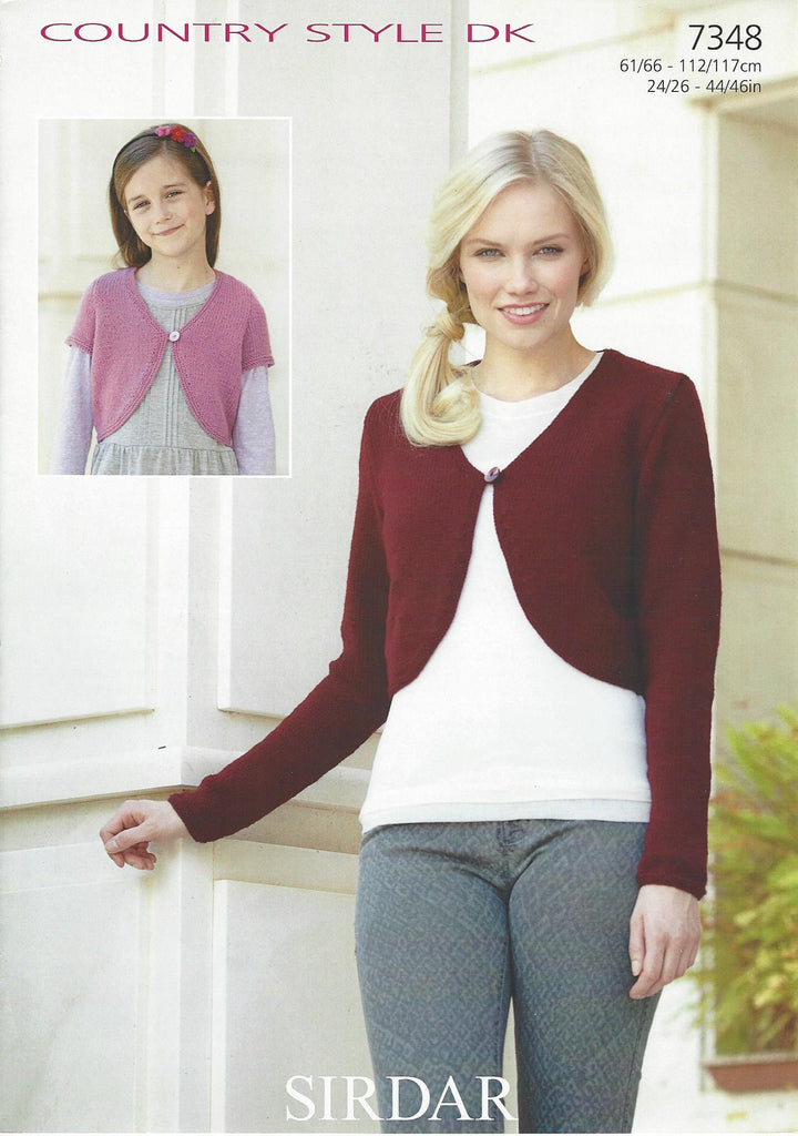 Sirdar 7348 - Ladies / Childrens Cardigan in Country Style DK Pattern - The Crafty Knitter