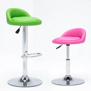 1 PC Swivel Bar Stool Modern Adjustable Height Metal Diner Seat Chair Hydraulic