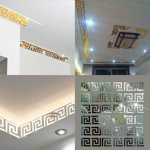 10 PCS Wall Mirror Acrylic Mirrored Decorative Sticker Puzzle Labyrinth Decal Art Stickers Home Decor
