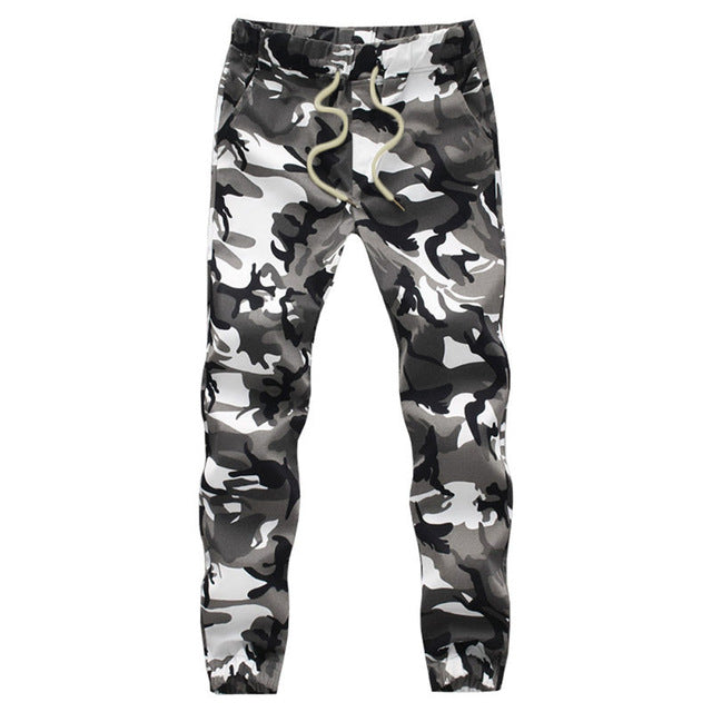 100% Cotton Mens Jogger Autumn Pencil Harem Pants 2017 Men Camouflage Military Pants Loose Comfortable Cargo Trousers Camo Jogge