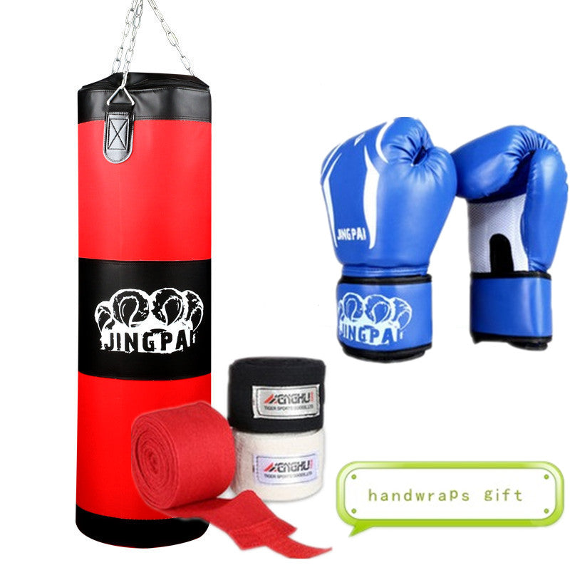 100cm Training Fitness MMA Fighter Boxing Bag Hook Hanging Bag Punch Punching Bag Sandbag (empty) With Boxing Gloves Hand Wraps