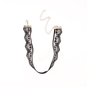 1Pcs Black Sexy Lace Choker Necklace For Women 2017 Jewellery Accessories Vintage Heart Lace Chokers Sexy Chocker  #87356