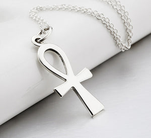 2016 New Men Jewelry Silver 316L Stainless Steel Stainless Steel Egyptian Ankh Cross Mens Womens Pendant Necklaces collares