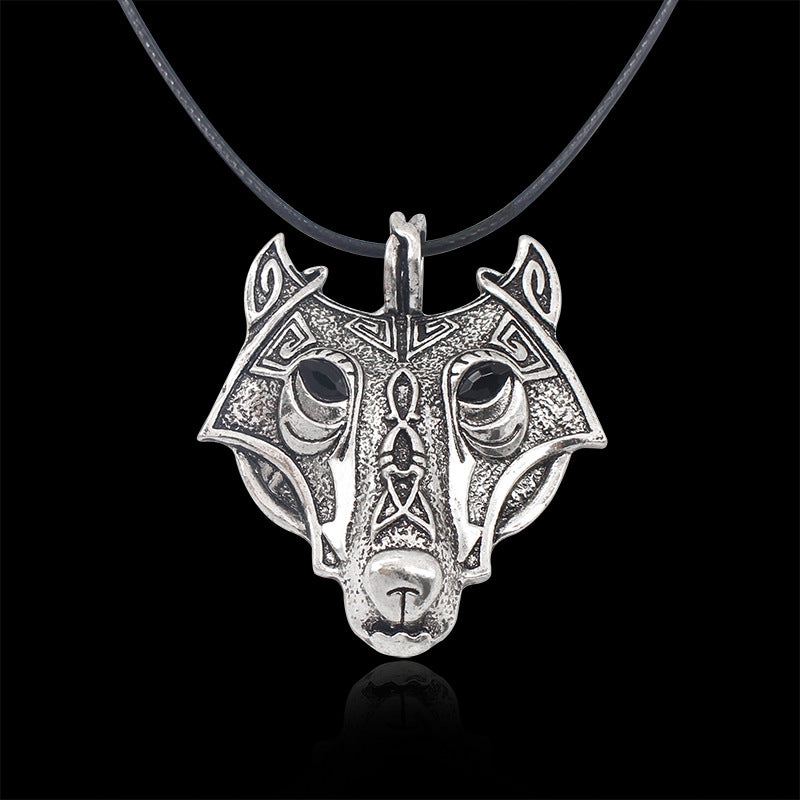 2017 Fashion Norse Vikings Pendant Necklace Norse Wolf Head Necklace Original Animal Jewelry Wolf Head hange