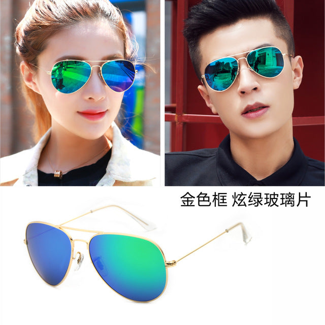2017 Limited Adult Alloy Men Aviator/pilot The New Glass Sunglasses And Colorful Gemajing Trendsetter Driving Mirror Driver