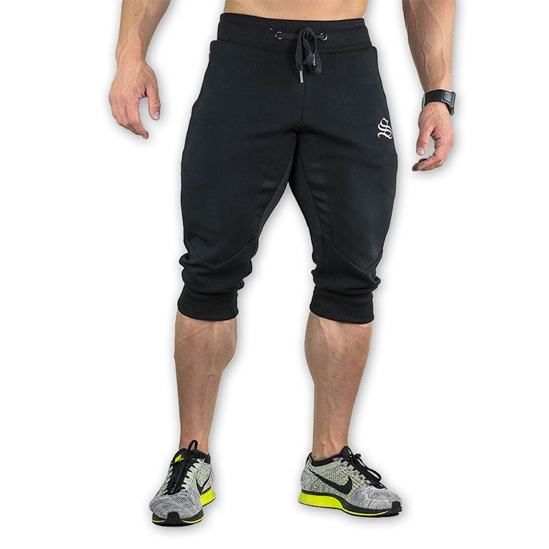 2017 NEW Summer Brand Mens Jogger Sporting Thin Shorts Men Black Bodybuilding Short Pants Male Fitness Gyms Shorts for workout
