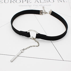 2017 New Velvet Choker Necklace Black leather Strip Circle Gothic for Women rope chain Collar Best Pendants Necklaces Jewelry