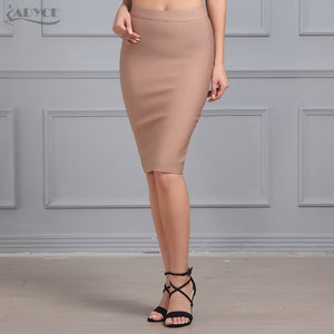 2017 new women sexy bodycon skirt knee-length bandage skirt  khaki  blue red white black unde celebrity skirt wholesale