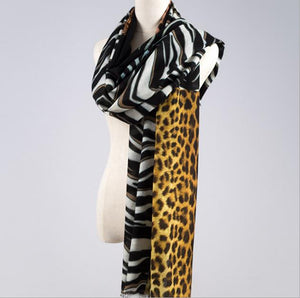 2017 new wool scarf Zebra Leopard pattern women's scarves lady shawl Fashion autumn and winter wool warm scarves