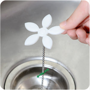 2Pcs Shower Drain Hair Catcher Stopper Clog Sink Strainer Bathroom Accessories sewer drain clean Filter Strap Pipe Hook