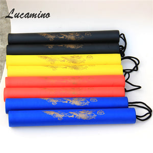 Martial Arts Foam Nunchakus Kids rope chains plastic nunchaku Child kung fu Wushu nunchucks Trainer For beginners