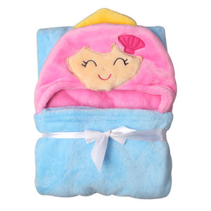 3D Design High Quality Flannel Baby Blanket Newborn Faux Fur Super Soft Cartoon Blankets For Beds Thick Warm Kids Fleece Throw