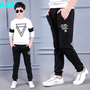 A15 Kids Clothes Boys Pants Casual Black 2017 New Spring Children Sports Trousers Boys Teen Pants Boy Long Age 8 9 10 12 14 Year