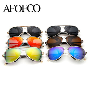 AFOFOO New Fashion Gothic Steam Punk Glasses Brand Designer Vintage Summer Women Men Steampunk Sunglasses Oculos de sol