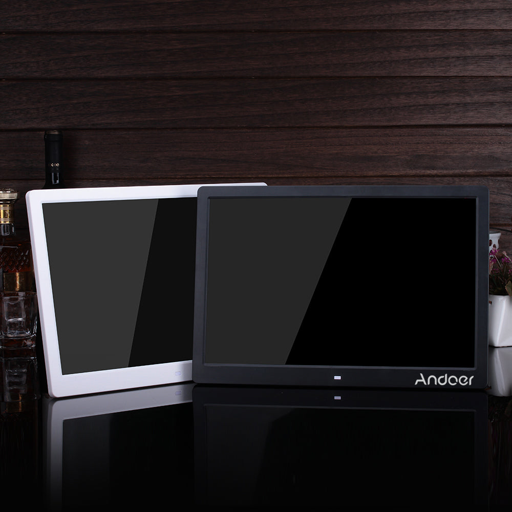 "Andoer 15.6"" LED Digital Photo Frame 1280*800 High Resolution Picture Frame With Alarm Clock MP3 MP4 Movie Player Remote Control"