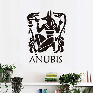 Anubis Wall Sticker Home Decor DIY The Egyptian Jackal Wallpaper Protector Mural Art Wall Sticker Living Room Home Decoration