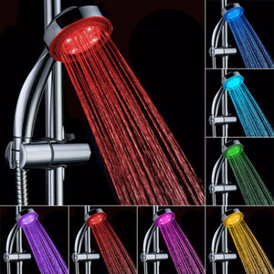 Automatic Magic 7 Colors Change Shower Head 5 LED Lights Handing Rainfall Single Round Head for Water Bathroom Accessories