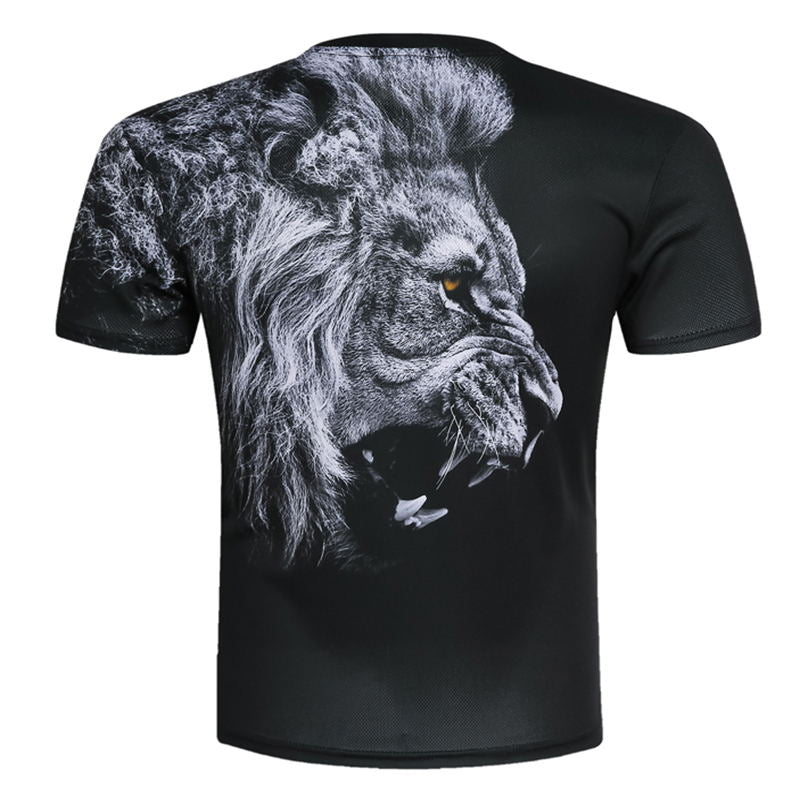 BIANYILONGNew Fashion Men/Women T-shirt 3d lion Print Designed Stylish Summer T shirt Brand Tops Tees Plus Size M-5XL