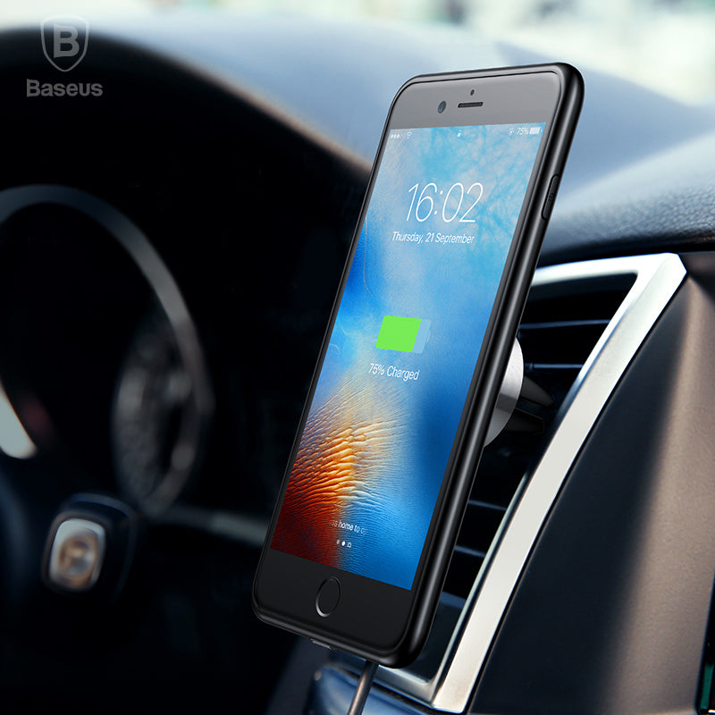 Baseus Creative Multifunction Wireless Charger Case Car Holder For iPhone 7 8 Plus Car Phone Holder Magnetic Wireless Charger