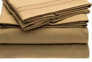 Bed Sheet Set - Brushed Microfiber 1800 Bedding - Wrinkle, Fade, Stain Resistant - Hypoallergenic - 4 Piece