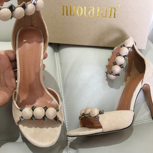 Brand fashion women pumps ankle strap high heel pumps shoes for women sexy peep toe high heels sandals party wedding shoes woman