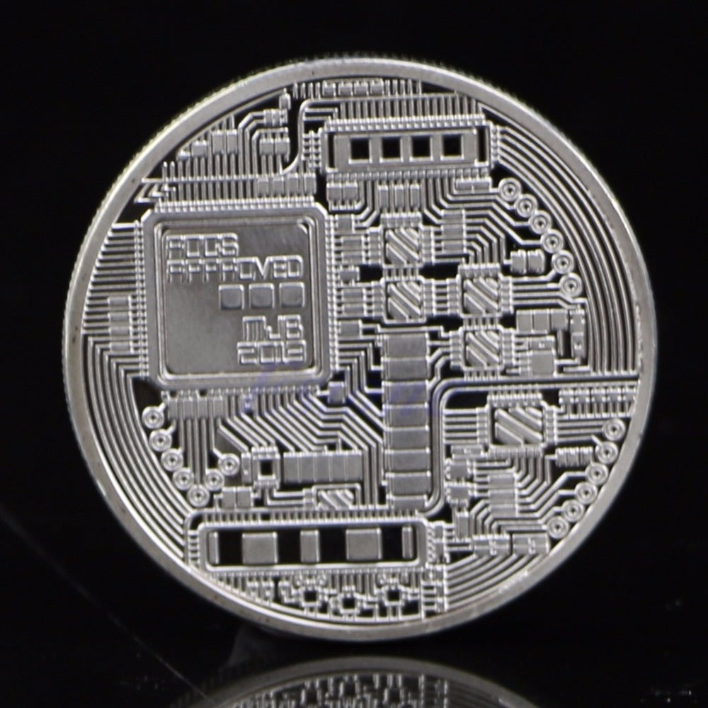 Coins collectibles Silver Plated Bitcoin BTC Coin Art Collection Gift Physical New XQ_8 Drop shipping