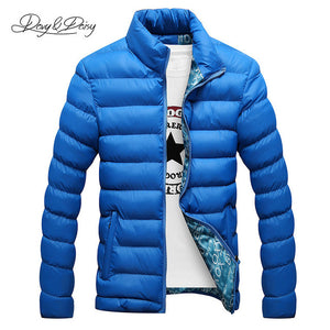 DAVYDAISY New Men Winter Jacket Stand Collar Ultralight Parka Men Casual Warm Coat Male Brand Clothing Outerwear JK056