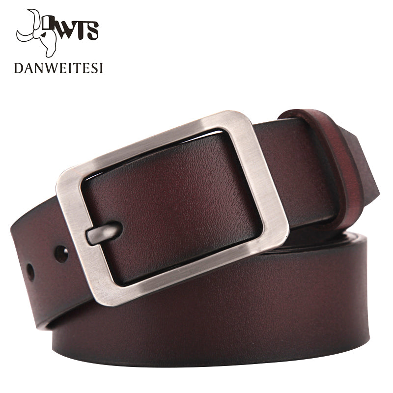 [DWTS]2017 belt men genuine leather luxury strap male belts for men buckle fancy vintage jeans cintos masculinos ceinture homme