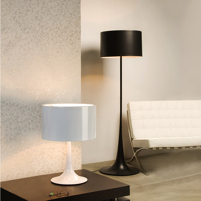 Dia.50cm,H178cm Large White/Black Wrought Iron Floor Lamp Modern Living Room Nordic Designer Stand Lamps Bedroom Led Light FL-11