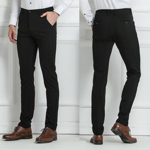 Drizzte Brand Mens Dress Pants Stretch Slim Fit Slacks Casual Formal Business Trousers 28 29 30 31 32 33 34 36 38
