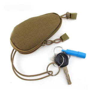 EDC Mini Key Wallets Holder Men Coin Purses Pouch Military Army Camo Bag Small Pocket Keychain Zipper Case Out Door Pack !